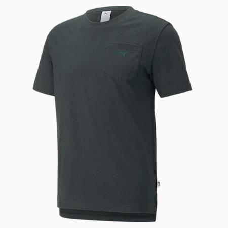 MMQ T-Shirt mit Tasche, Midnight Green, small
