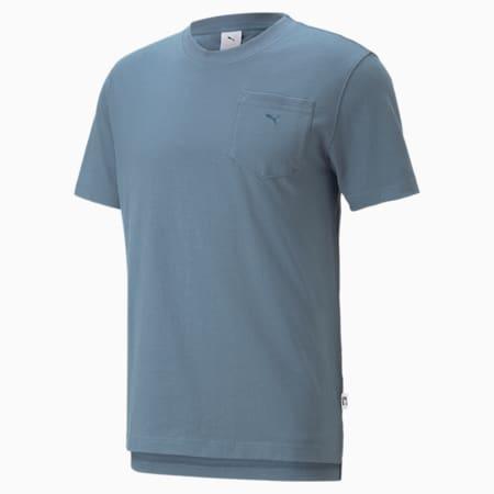 MMQ T-Shirt mit Tasche, China Blue, small