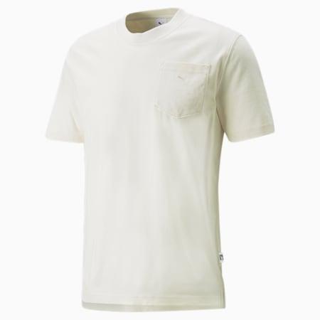 MMQ T-Shirt mit Tasche, Ivory Glow, small
