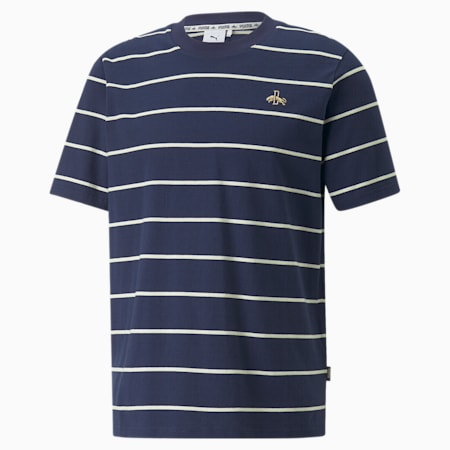 Dassler Legacy Stripes Tee, Peacoat, small