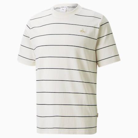 Dassler Legacy Stripes Tee, Eggnog, small