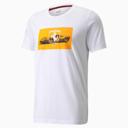 Camiseta estampada Scuderia Ferrari Race 2 para hombre, Puma White, pequeño