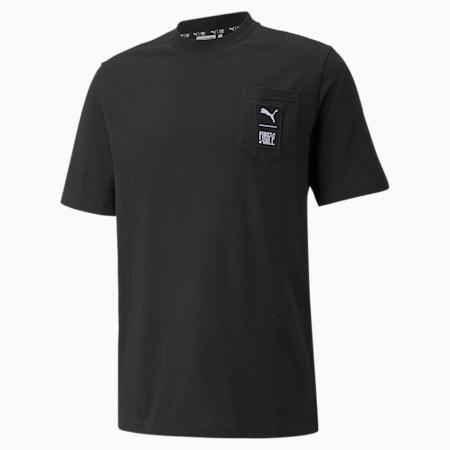 Camiseta PUMA x FIRST MILE para hombre, Puma Black, pequeño