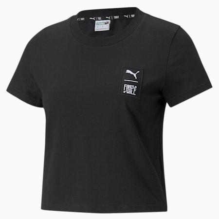 푸마 x 퍼스트 마일 티셔츠/First Mile Tee, Puma Black, small-KOR