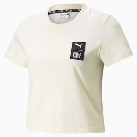 Camiseta PUMA x FIRST MILE para mujer, Ivory Glow, pequeño