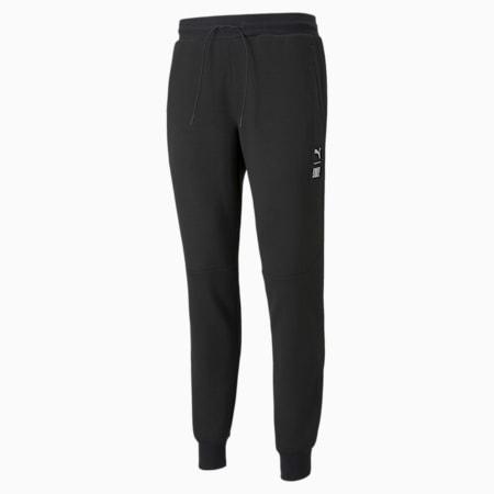 Pantalones para correr de tejido doble PUMA x FIRST MILE para hombre, Puma Black, pequeño