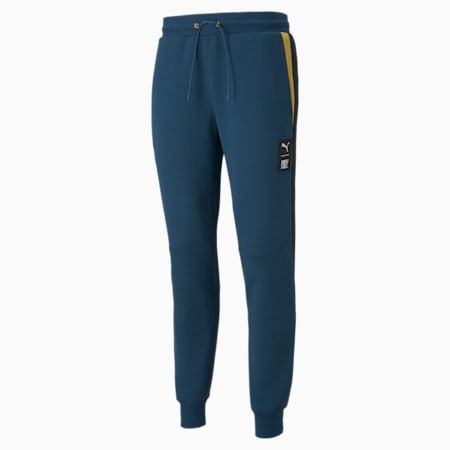 Pantalones para correr de tejido doble PUMA x FIRST MILE para hombre, Intense Blue, pequeño