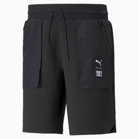푸마 x 퍼스트 마일 Double Knit 카고 숏 팬츠/First Mile Cargo Short DK, Puma Black, small-KOR