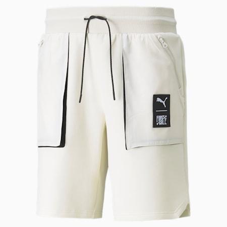 푸마 x 퍼스트 마일 Double Knit 카고 숏 팬츠/First Mile Cargo Short DK, Ivory Glow, small-KOR