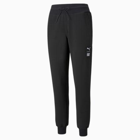 Pantalones para correr de tejido doble PUMA x FIRST MILE para mujer, Puma Black, pequeño