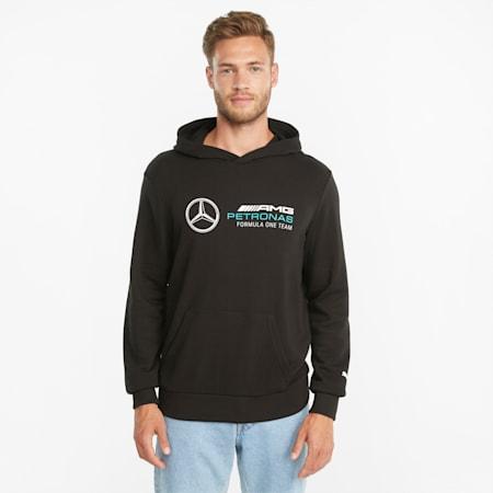 Mercedes F1 Essentials Men's  Hoodie, Puma Black, small-GBR