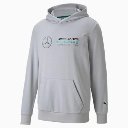 Sweat à capuche Essentiels MercedesF1 pour homme, Mercedes Team Silver, small