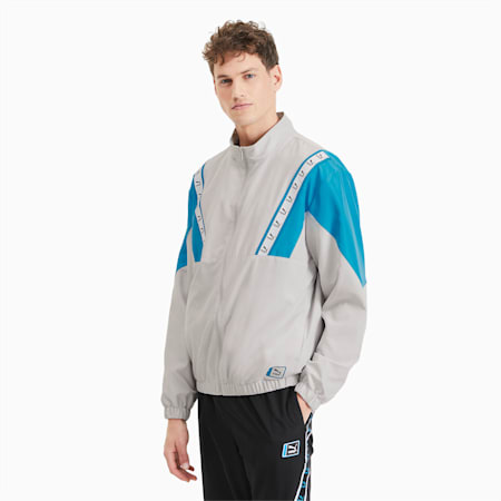 Woven Men's Track Jacket, Lunar Rock, small