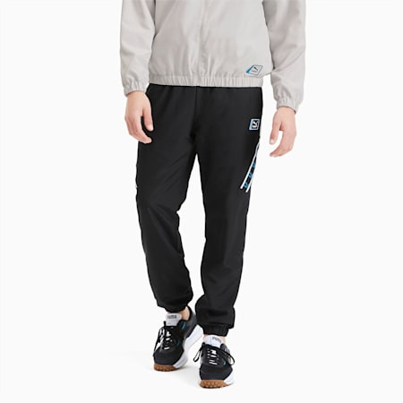 Męskie tkane spodnie dresowe, Puma Black, small