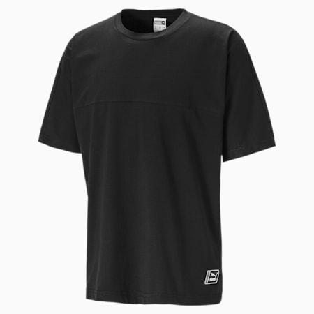 Boxy Tape T-shirt voor heren, Puma Black, small