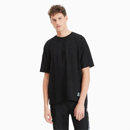 Camiseta Boxy Tape para hombre, Puma Black, small
