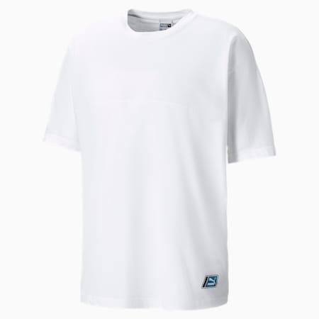 Boxy Tape T-shirt voor heren, Puma White, small