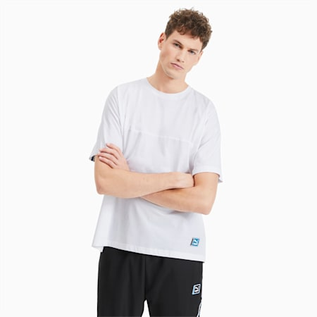 T-Shirt Boxy Tape pour homme, Puma White, small