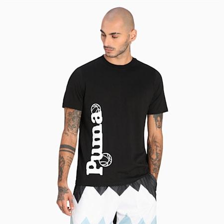 Camiseta de básquetbol 4th Quarter para hombre, Puma Black, pequeño