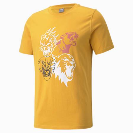 Camiseta de básquetbol 4th Quarter para hombre, Mineral Yellow, pequeño