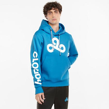 Sudadera con capucha estampada PUMA x CLOUD9 Esports para hombre, Bleu Azur, pequeño