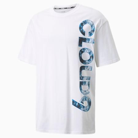 Camiseta con logo grande PUMA x CLOUD9 Esports para hombre, Puma White, pequeño