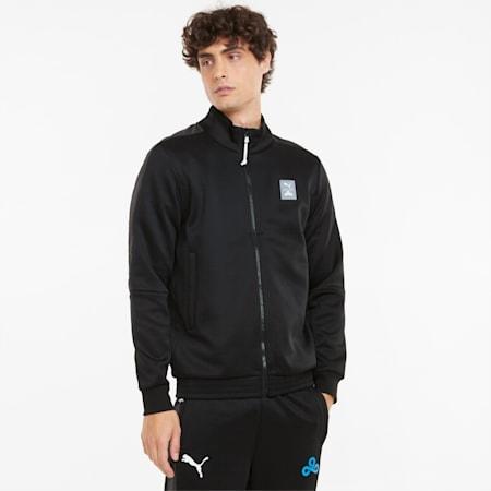 PUMA x CLOUD9 Men's Esports Track Jacket, Puma Black-Puma Black, small