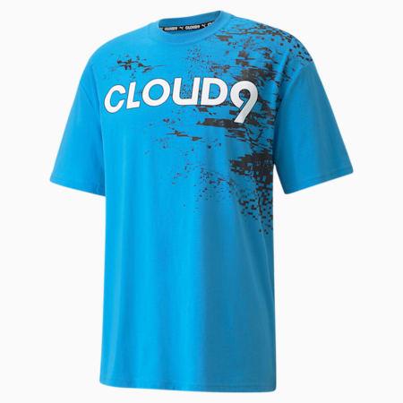 Camiseta estampada PUMA x CLOUD9 Esports para hombre, Bleu Azur, pequeño