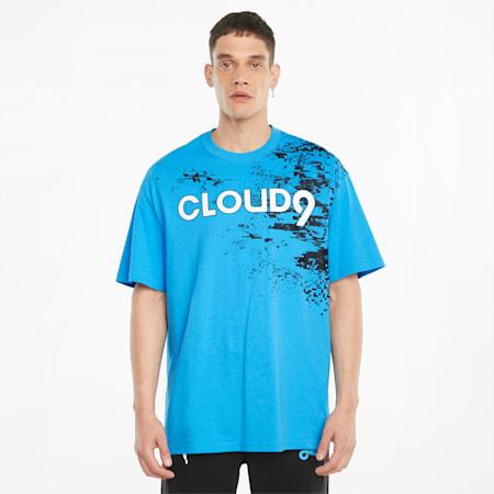 PUMA x CLOUD9 Graphic Men's Esports Tee, Bleu Azur, small