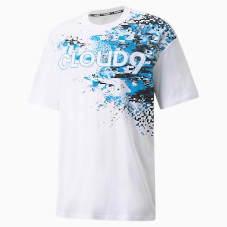 Camiseta estampada PUMA x CLOUD9 Esports para hombre, Puma White, pequeño