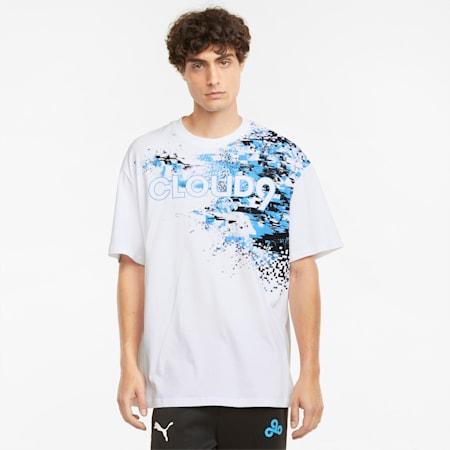 T-shirt graphique Esports PUMA x CLOUD9, homme, Blanc Puma, petit