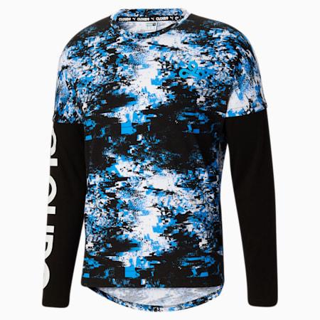 Camiseta estampada manga larga PUMA x CLOUD9 Esports para hombre, Puma White-Puma Black, pequeño