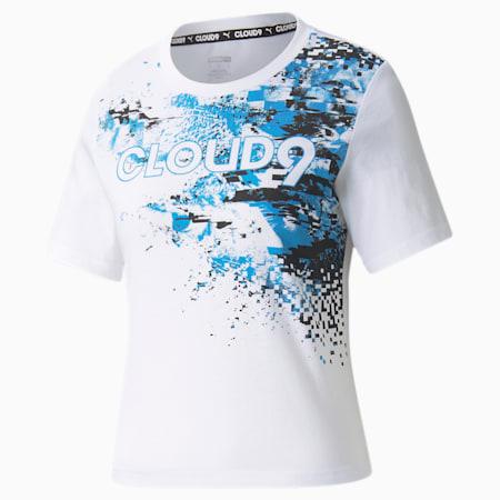 Camiseta estampada PUMA x CLOUD9 Esports para mujer, Puma White, pequeño