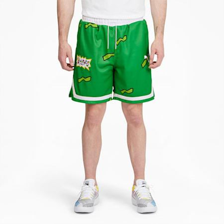 Shortsparabásquetbol PUMA x RUGRATSpara hombre, Classic Green, pequeño