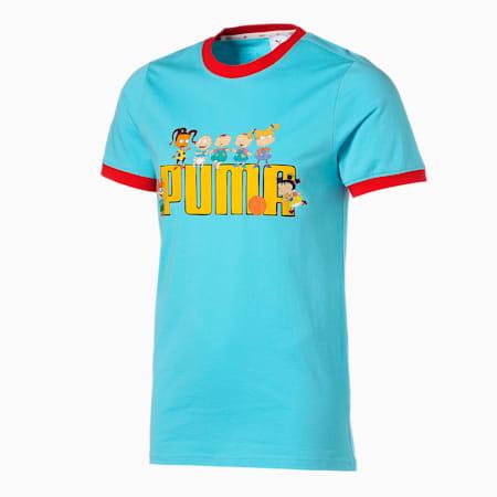 T-shirt da basket a maniche corte PUMA x RUGRATS uomo, Petit Four, small