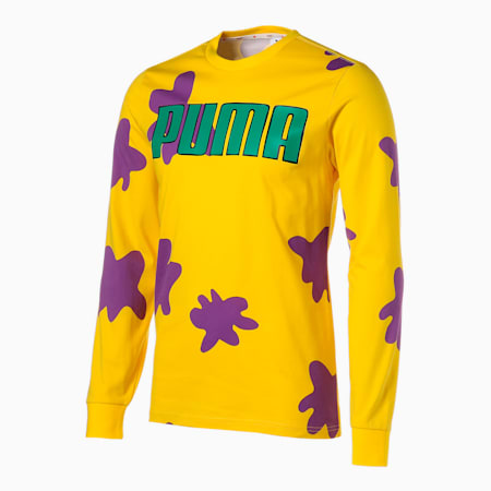 PUMA x RUGRATS Long Sleeve Men's Basketball Tee, Empire Yellow, small