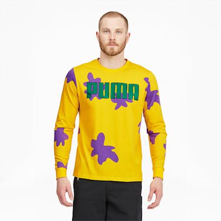 Camiseta parabásquetbolmanga larga PUMA x RUGRATSpara hombre, Empire Yellow, pequeño