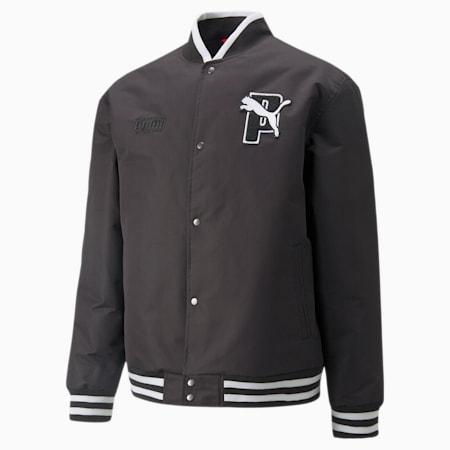 PUMA x PUMA Varsity Jacket, Puma Black, small