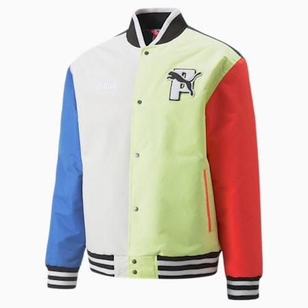 PUMA x PUMA Varsity Jacket, Bluemazing, small