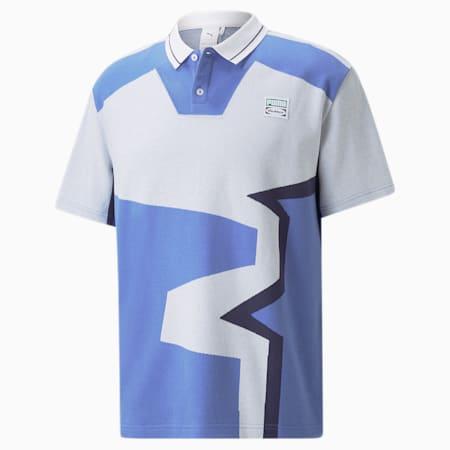 Camiseta tipo polo con dos botones PUMA x BUTTER GOOD, Puma White-.AOP, pequeño