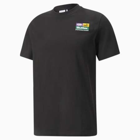 PUMA x BUTTER GOODS Graphic Relaxed Fit Unisex T-Shirt, Puma Black, small-IND