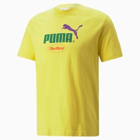푸마 x BUTTER GOODS Graphic 티셔츠/PUMA x BG Graphic Tee, Maize, small-KOR