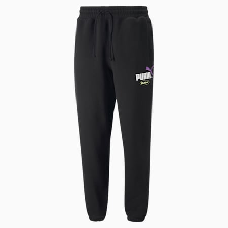 PUMA x BUTTER GOODS Relaxed Fit Unisex Sweat Pants, Puma Black, small-IND