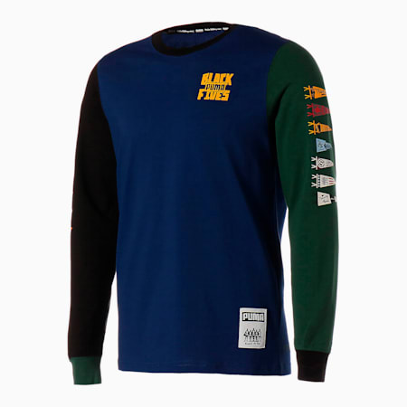 PUMA x BLACK FIVES バスケットボール BARN STORMING 長袖 Tシャツ, Blue Depths, small-JPN