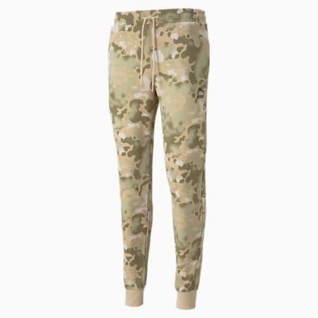 Pantalones de felpa estampados CG para hombre, Pebble, pequeño