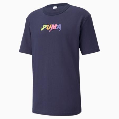 Camiseta Downtown con logo para hombre, Peacoat, pequeño