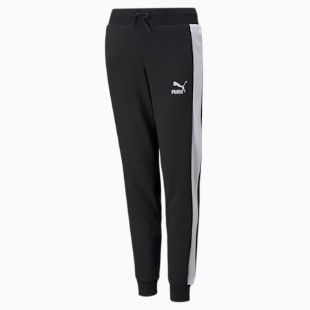 Classics T7 Youth Track Pants, Puma Black, small-GBR
