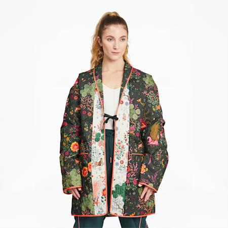 PUMA x LIBERTY Printed Women's Kimono, Green Gables-AOP, small-GBR