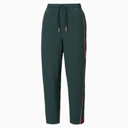 PUMA x LIBERTY Women's Loose Track Pants, Green Gables, small-IND
