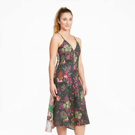 PUMA x LIBERTY Women's Dress, Green Gables-AOP, small-GBR